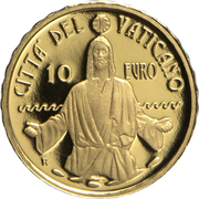 10 Euro - Franciscus (Baptism) -  reverse