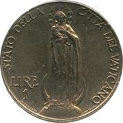 1 Lira - Pivs XI (Jubilee) – reverse