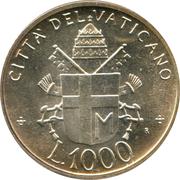 1000 Lire - Ioannes Pavlvs II -  obverse