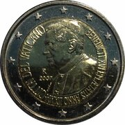 2 Euro - Benedictus XVI (80th Birthday) -  obverse