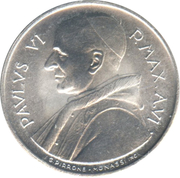 1 Lira - Pavlvs VI (FAO) – reverse