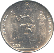 2 Lire - Pavlvs VI (FAO) – reverse
