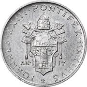 1 Lira - Ioannes XXIII (Second Ecumenical Council) – obverse