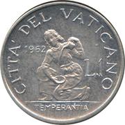 1 Lira - Ioannes XXIII – reverse