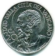 20 Centesimi - Pivs XII – reverse