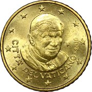 50 Euro Cent - Benedictus XVI (2nd Map) -  obverse