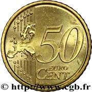 50 Euro Cent - Benedictus XVI (2nd Map) -  reverse
