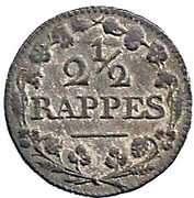 2½ Rappen – reverse