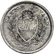 ¼ Franc – obverse
