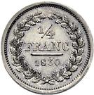 ¼ Franc – reverse