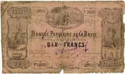 10 Francs (Banque Populaire de la Broye) – obverse