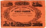 20 Francs (Crédit Agricole et Industriel de la Broye) – obverse