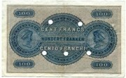 100 Francs (Banque Cantonale Vaudoise) – reverse