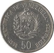 50 Bolívares – obverse
