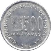 500 Bolívares – obverse