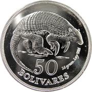 50 Bolívares (Armadillo) – reverse