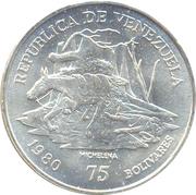 75 Bolívares (Antonio José de Sucre) – obverse