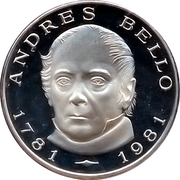 100 Bolívares (Birth of Andres Bello) – reverse