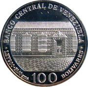 100 Bolívares (Bicentenary of Simon Bolivar's Birth) – obverse