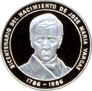 100 Bolívares (José M. Vargas) – reverse