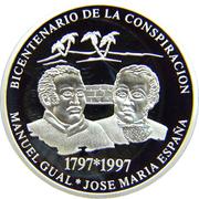500 Bolívares (Gual & España Conspiracy) – reverse