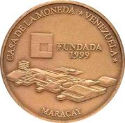 3000 Bolívares (Casa de la Moneda de Maracay) – reverse