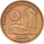 3000 Bolívares (Casa de la Moneda de Maracay) – obverse