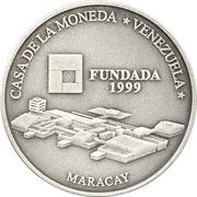 6000 Bolívares (Casa de la Moneda de Maracay) – reverse