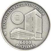 6000 Bolívares (Casa de la Moneda de Maracay) – obverse