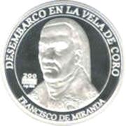 200 Bolívares (Francisco de Miranda) -  reverse