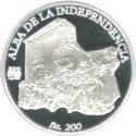 200 Bolívares (Independence) – reverse