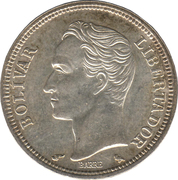 1 Bolívar -  reverse