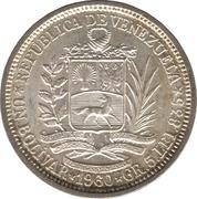 1 Bolívar – obverse