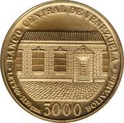 3000 Bolívares (Simon Bolivar) – obverse