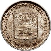 ¼ Bolívar – obverse