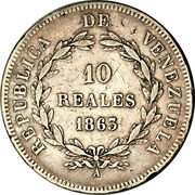10 Reales – reverse