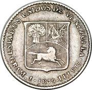 ⅕ Bolívar – obverse