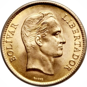 10 Bolivares ( Centenary of the death of the Liberator) – reverse