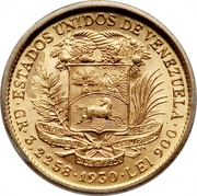 10 Bolivares ( Centenary of the death of the Liberator) – obverse