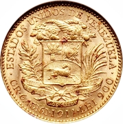20 Bolívares – obverse