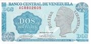 2 Bolívares – obverse