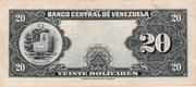 20 Bolívares – reverse