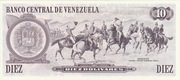 10 Bolívares – reverse