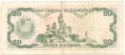 20 Bolivares (Caracas) – reverse