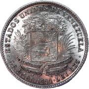 ½ Bolívar – obverse