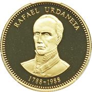 5000 Bolívares (Rafael Urdaneta) – reverse