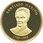 5000 Bolívares (Santiago Mariño) – reverse