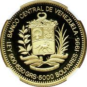 5000 Bolívares (Antonio Jose de Sucre) – obverse