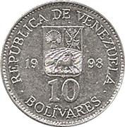 10 Bolívares – obverse