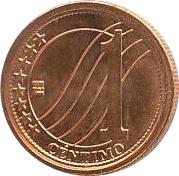 1 Céntimo – reverse